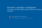 Lembre do pendrive com o Removable Drive Reminder