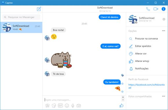 Use o Facebook Messenger no PC com o Caprine