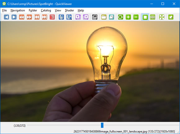 Visualize fotos rapidamente com o QuickViewer