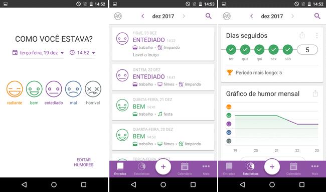Mantenha um diário pessoal no smartphone com o Daylio