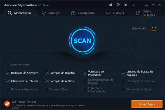 Programa para limpar e otimizar o Windows - Advanced SystemCare Free