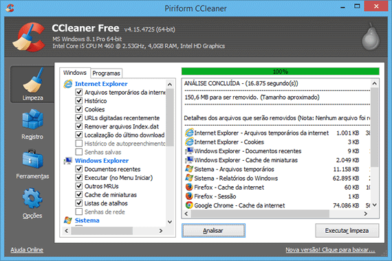 Limpe e otimize o windows com o ccleaner stopboris Image collections