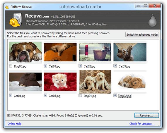 programa para recuperar arquivos deletados gratis