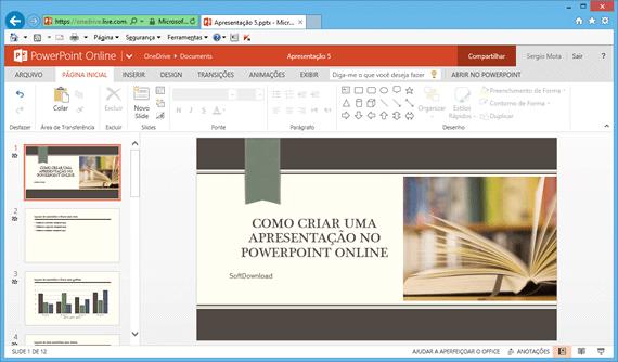 crie apresentações com o powerpoint online