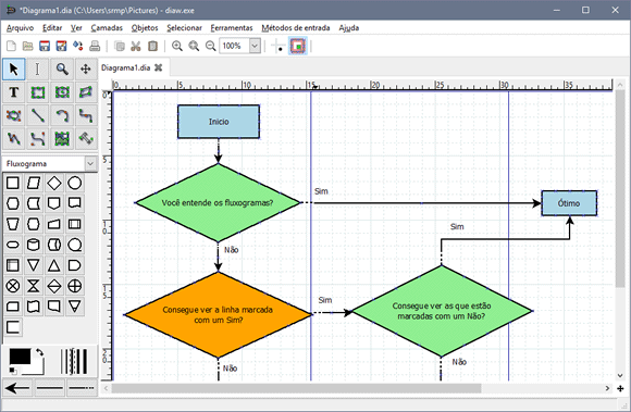 Crie diagramas com o dia diagram editor ccuart Images