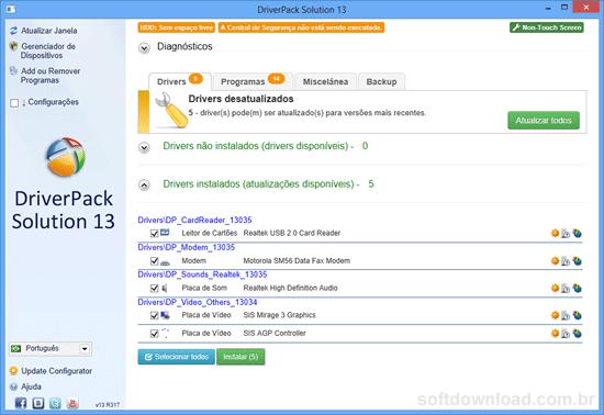 [Software]Programas essenciais para um técnico Driverpack