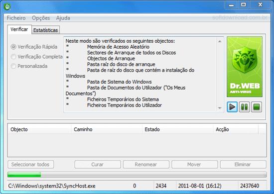 Programa para remover malwares do Windows - Dr.Web CureIt
