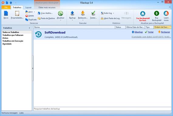 Programa de backup gratuito para Windows - FBackup
