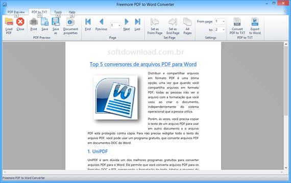 Converta arquivos PDF em documentos do Word