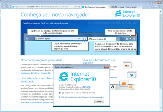 Download do Internet Explorer 10 para Windows 7