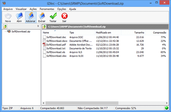compactador de arquivos zip