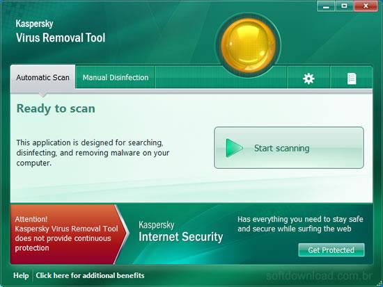 Programa para remover vírus do Windows - Kaspersky Virus Removal Tool