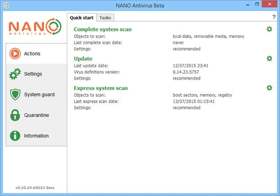 Antivirus gratuito para Windows - Nano Antivirus