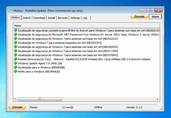 Atualize o Windows em offline com o Portable Update