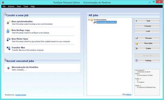 Programa de backup gratuito para Windows - PureSync