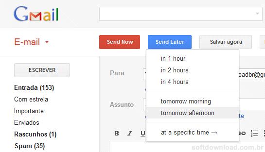 Agende o envio de emails no Gmail com o Right Inbox