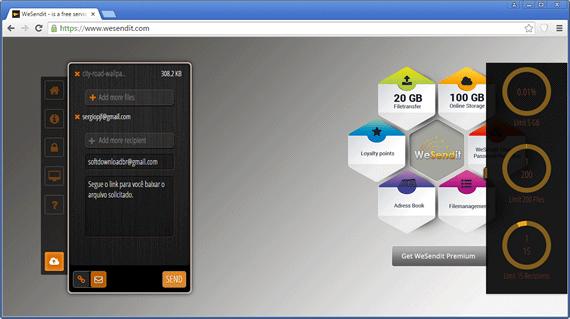 Envie arquivos de até 5GB por email com o WeSendIt
