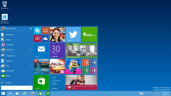 Download do Windows 10 Technical Preview